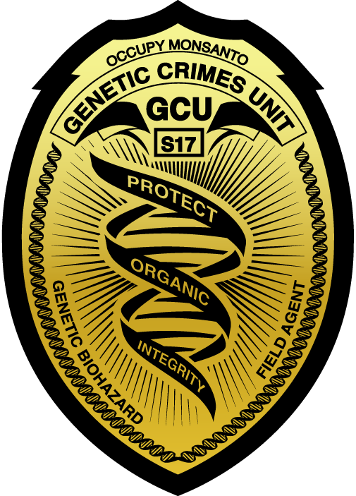 genetic crime unit badge large GCU Field Agent Badge Resource Protect Organic Integrity Graphic GCU Field Agent Badge