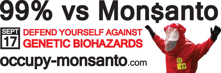 occupy monsanto banner1 Printable Occupy Monsanto Banners web ready vinyl superweeds signs Resource PDF Monsanto lab rat graphics gmo banners 99%