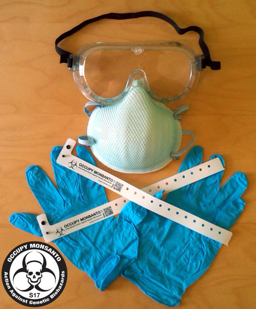 GCU kit1 Get Your Free Genetic Crimes Unit Action Kit Stickers Respirator Protest Map Goggles GCU FREE Dust Mask Crime Scene Tape Coverall Costume Bracelets