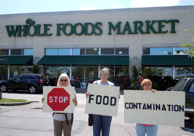 stop gmo food contamination INCIDENT REPORT: Join Safe Food Action St. Louis to Demand that Whole Foods Market Label GMO Food   June 9, 2012 Whole Foods Market St. Louis Safe Food Action St. Louis Protest Missouri Label GMO gmo Genetically Modified Food genetically engineered food food democracy Demonstration CAMP