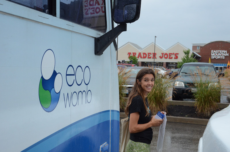 ecowomb shopping for truth at trader joes3 Photos of Shopping for Truth at Trader Joes in Portland, Maine USDA Organic Traitor GMOs Trader Joes Trader GMOs Shopping for Truth Protest Proof Portland Parking Lot Non GMO Project Non GMO Maine Kids incident report GMO Labeling gmo Family Eco Womb Demonstration Conscious Caravan