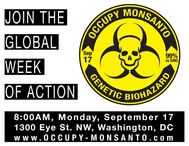 OM DC small Occupy Monsanto!   9/17, 8AM, 1300 Eye Street, NW, Washington, DC Washington Protest Occupy Monsanto GCU Demonstration DC Action
