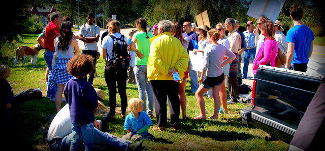 monsanto mystic ct 2 INCIDENT REPORT: Photos of the Action Against Monsanto in Mystic, CT