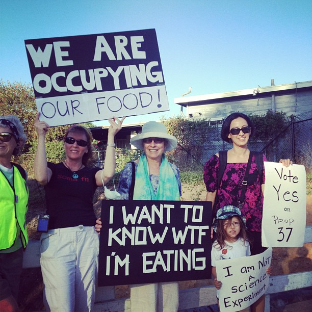 occupy Monsanto III 9.17 INCIDENT REPORT: Photos & Videos from San Diego, California March & Rally San Diego RoundUp Prop 37. Occupy Your Food Supply March food Demonstration Children Babies