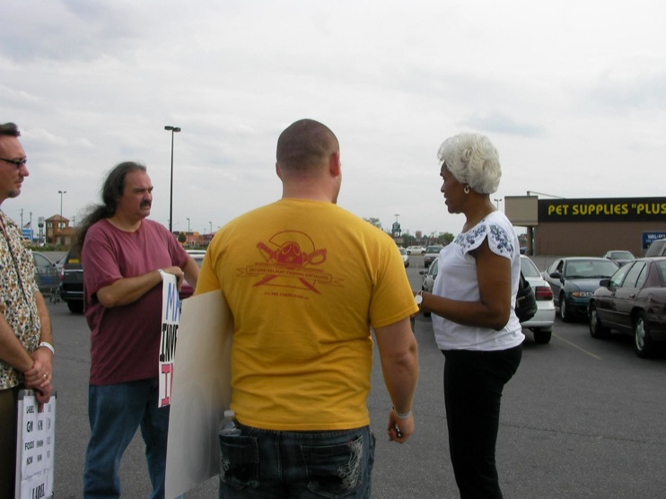 occupy monsanto defiance7 INCIDENT REPORT: Photos from GCU Field Agents outside Walmart in Defiance, Ohio Walmart Protest Parking Lot Ohio OH manager GMO Labeling GMO Corn gmo Demonstration Defiance Decontamination Event
