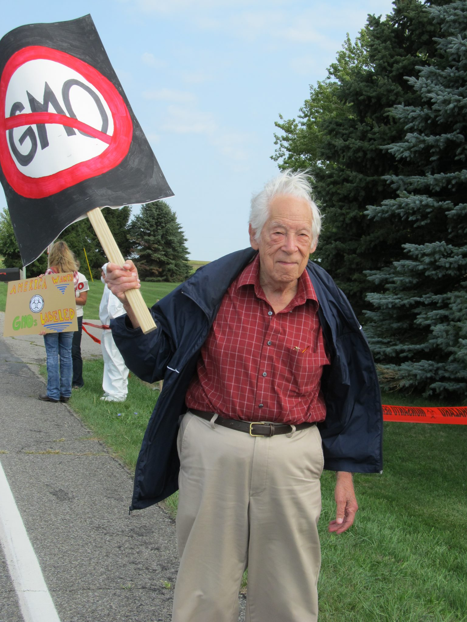 occupy monsanto mason michigan10 INCIDENT REPORT: Photos from Monsantos facility in Mason, Michigan Protest Occupy Monsanto Michigan MI Mason GMO Labeling gmo Genetics Crimes Unit Demonstration Decontamination Event Activism