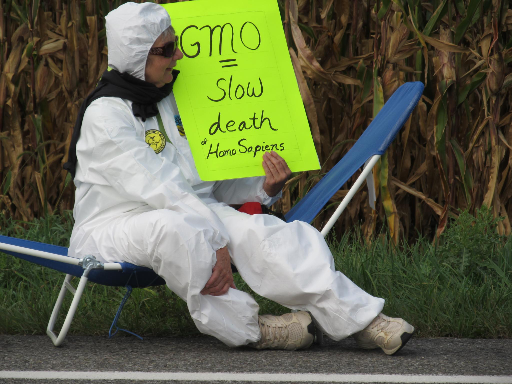 occupy monsanto mason michigan19 INCIDENT REPORT: Photos from Monsantos facility in Mason, Michigan Protest Occupy Monsanto Michigan MI Mason GMO Labeling gmo Genetics Crimes Unit Demonstration Decontamination Event Activism