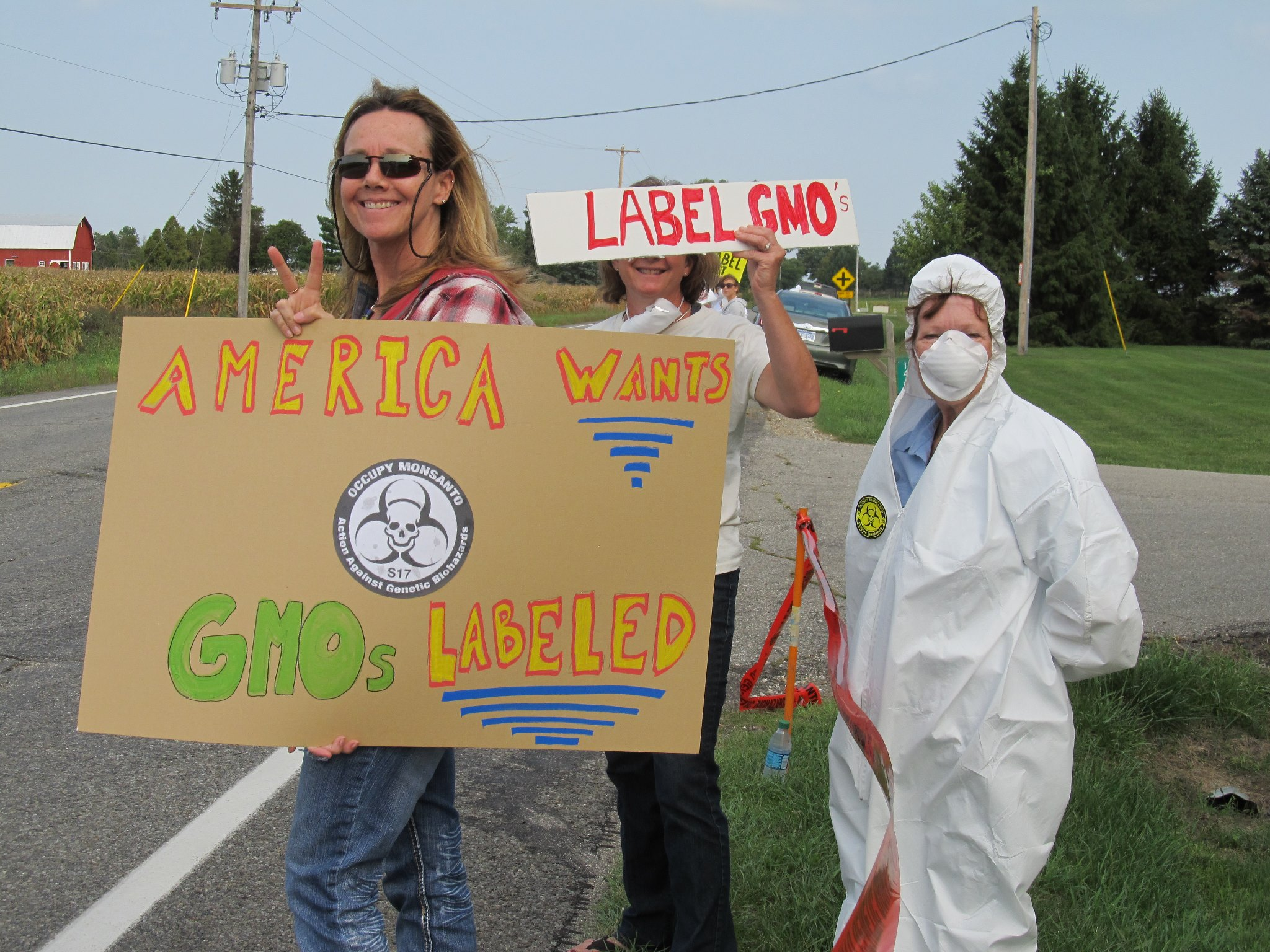 occupy monsanto mason michigan20 INCIDENT REPORT: Photos from Monsantos facility in Mason, Michigan Protest Occupy Monsanto Michigan MI Mason GMO Labeling gmo Genetics Crimes Unit Demonstration Decontamination Event Activism