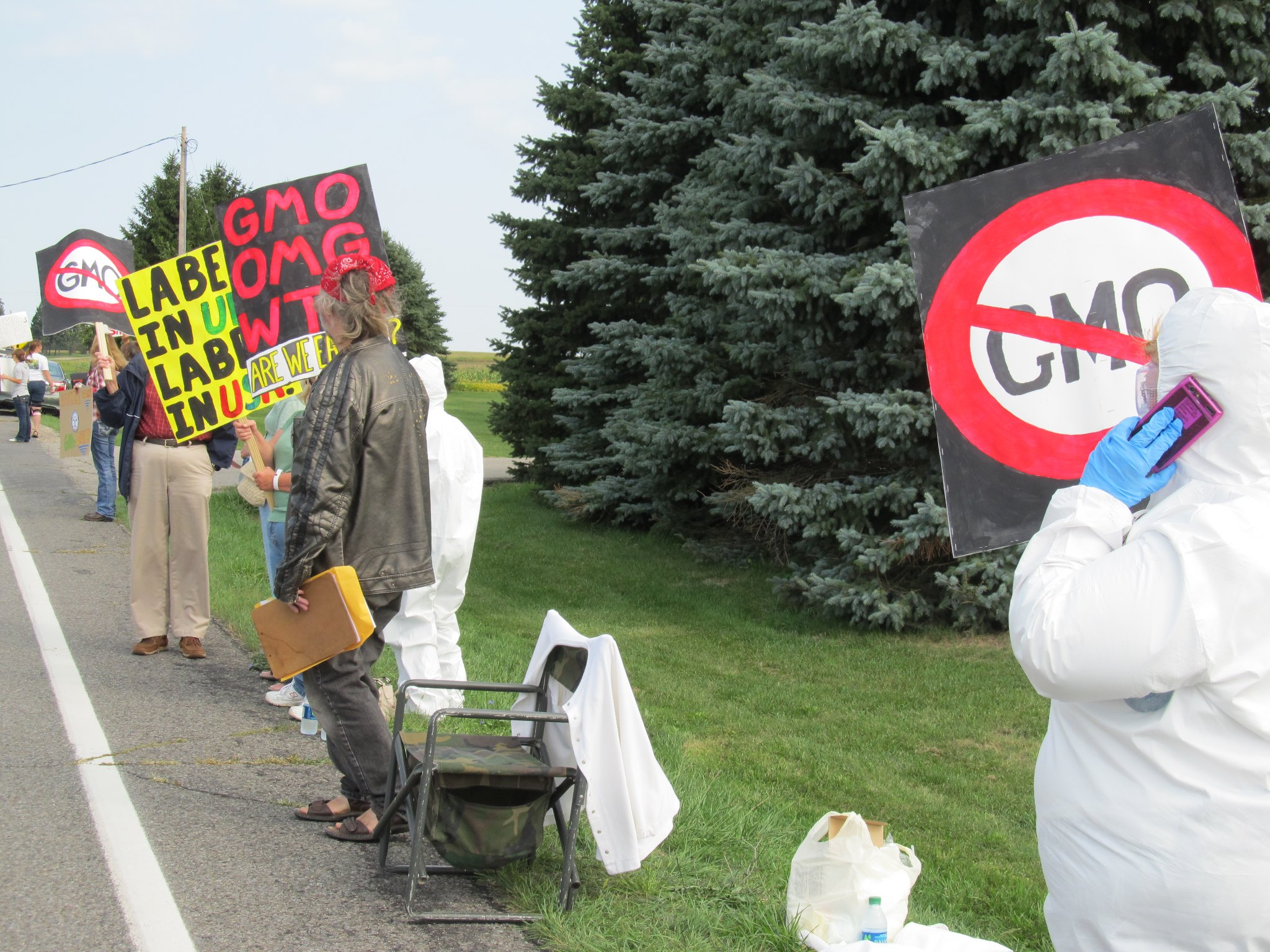 occupy monsanto mason michigan9 INCIDENT REPORT: Photos from Monsantos facility in Mason, Michigan Protest Occupy Monsanto Michigan MI Mason GMO Labeling gmo Genetics Crimes Unit Demonstration Decontamination Event Activism