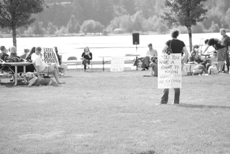 occupy monsanto olympia24 INCIDENT REPORT: Photos from GCU Field Agents at Lake Olympia, Washington Washington WA signs Protest Olympia Lake Olympia GMO Summit Demonstration
