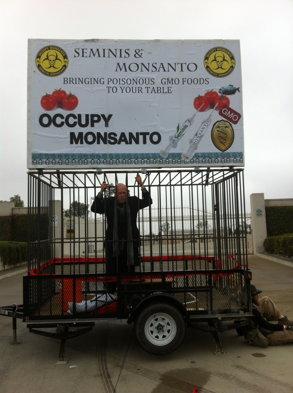 oxnard action photo 1 e1347530016744 Photos of GCU Field Agents occupying Monsantos Oxnard facility Seminis Protest Oxnard Occupy Monsanto GMO Seeds GCU Direct Action Decontamination Event CA