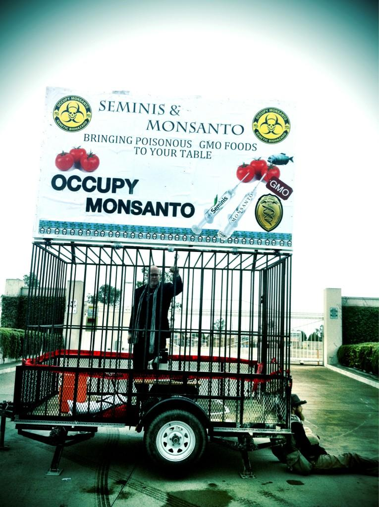 oxnard action photo 30 Photos of GCU Field Agents occupying Monsantos Oxnard facility Seminis Protest Oxnard Occupy Monsanto GMO Seeds GCU Direct Action Decontamination Event CA