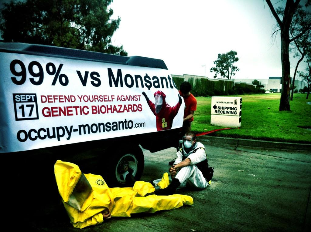 oxnard action photo 33 Photos of GCU Field Agents occupying Monsantos Oxnard facility Seminis Protest Oxnard Occupy Monsanto GMO Seeds GCU Direct Action Decontamination Event CA