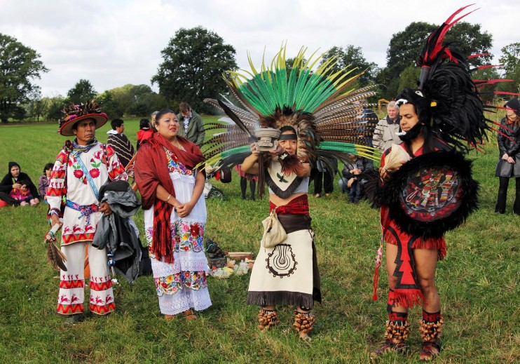 tlayolan1 e1347902310581 INCIDENT REPORT: Photos from the Tlayolan Maisfest 2012 in Berlin, Germany Rituals Maize GMO Free Germany Culture Corn Berlin Bantam Mais Aztec Maize Harvest Aztec