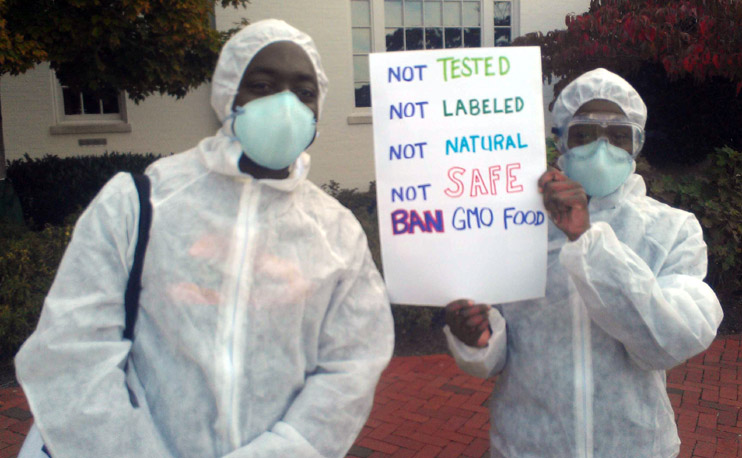 not tested not labeled not natural not safe INCIDENT REPORT: Photos from outside of the Republican Party Headquarters in Washington, DC Washington USDA Republican Party Protest Police Occupy the GMO Candidate Michael Taylor GMO Labeling GCU Field Agents FDA Demonstration DC Corn Chimp Congress Capitol Hill