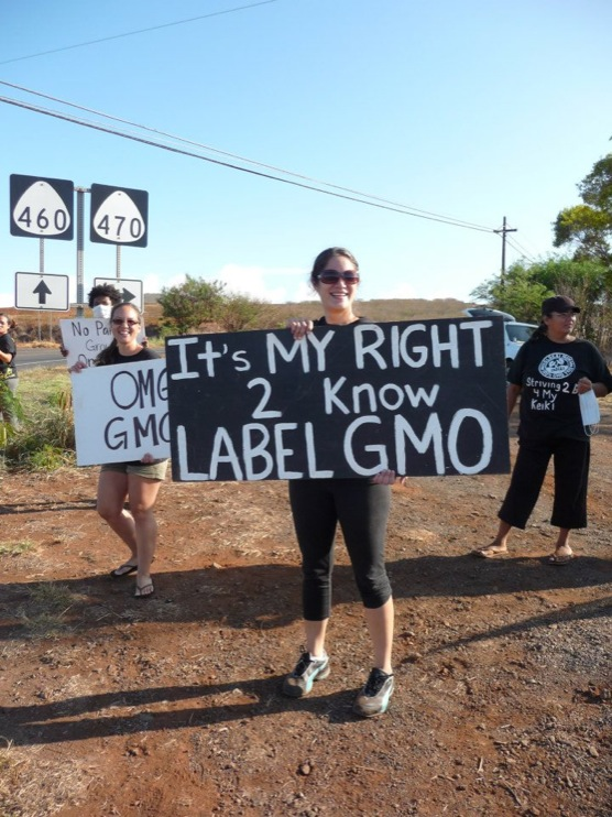 occupy monsanto molokai12 INCIDENT REPORT: Photos from GCU Field Agents in Molokai, Hawaii signs Protest pesticides organic Molokai Kids Island HI Hawaii GMO Free Molokai Farms Demonstration Chemicals