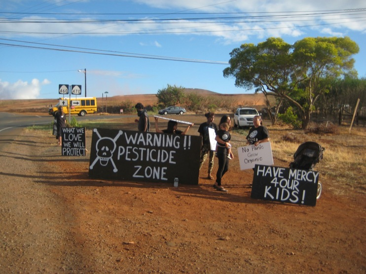 occupy monsanto molokai18 INCIDENT REPORT: Photos from GCU Field Agents in Molokai, Hawaii signs Protest pesticides organic Molokai Kids Island HI Hawaii GMO Free Molokai Farms Demonstration Chemicals