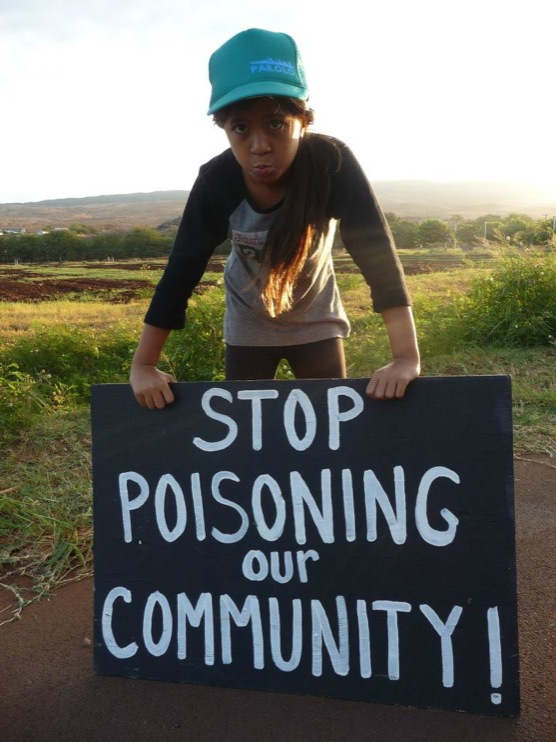 occupy monsanto molokai23 INCIDENT REPORT: Photos from GCU Field Agents in Molokai, Hawaii signs Protest pesticides organic Molokai Kids Island HI Hawaii GMO Free Molokai Farms Demonstration Chemicals