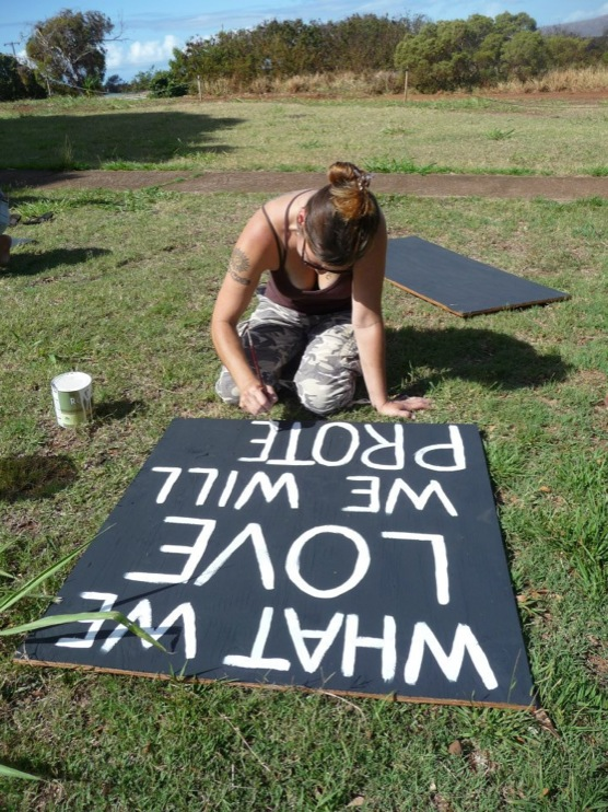 occupy monsanto molokai33 INCIDENT REPORT: Photos from GCU Field Agents in Molokai, Hawaii signs Protest pesticides organic Molokai Kids Island HI Hawaii GMO Free Molokai Farms Demonstration Chemicals