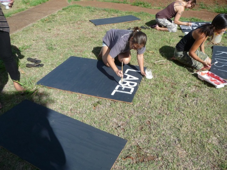 occupy monsanto molokai40 INCIDENT REPORT: Photos from GCU Field Agents in Molokai, Hawaii signs Protest pesticides organic Molokai Kids Island HI Hawaii GMO Free Molokai Farms Demonstration Chemicals