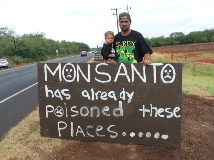 occupy monsanto molokai48 INCIDENT REPORT: Photos from GCU Field Agents in Molokai, Hawaii signs Protest pesticides organic Molokai Kids Island HI Hawaii GMO Free Molokai Farms Demonstration Chemicals