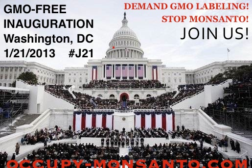 gmo free inauguration2 GMO Free Inauguration  White House Washington USDA Protest Promise President Obama petition National Mall Monsanto Inauguration Inaugural GMO Free GMO Labeling gmo FDA EPA Demonstration DC Barack Obama