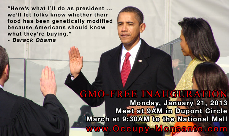 gmo free inauguration web GMO Free Inauguration  White House Washington USDA Protest Promise President Obama petition National Mall Monsanto Inauguration Inaugural GMO Free GMO Labeling gmo FDA EPA Demonstration DC Barack Obama