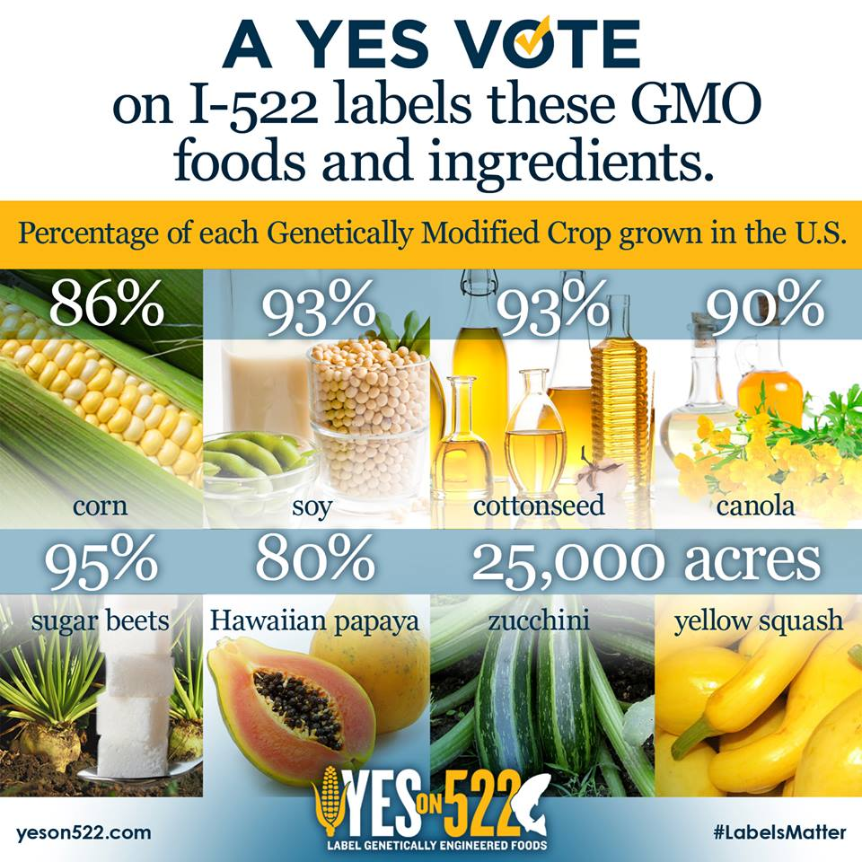 yes on 522 infographic Volunteer with the Yes On 522 Campaign Yes on 522 Washington volunteer Phonebank GMO Labeling gmo 522