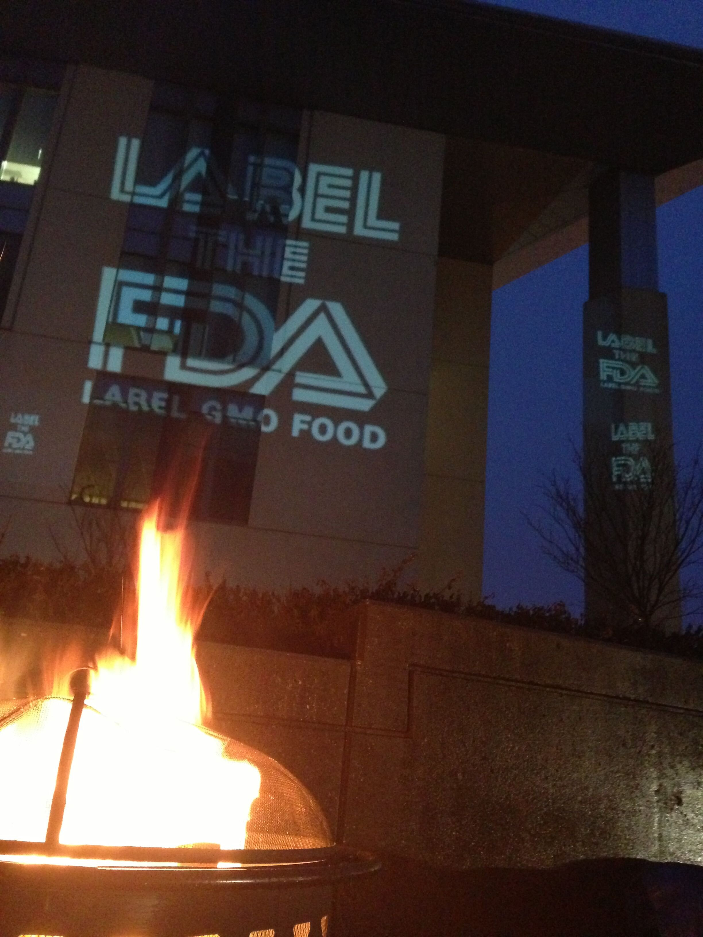 LABELtheFDA13 Label The FDA   Photos & Video Protest Label the FDA GMO Labeling FDA Demonstration Center for Food Safety and Applied Nutrition
