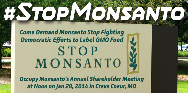 Occupy Monsanto's Annual Shareholder Meeting - January, 28, 2014